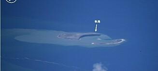 Ny øy etter vulkanutbrudd