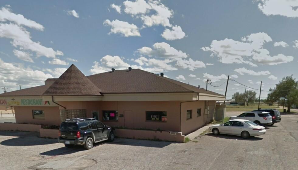 BLE FULL: Mannen drakk seg full på La Fogata Mexican Grill i Andrews Texas. Nå er han tilkjent 5,5 millioner dollar. Foto: Google Street View