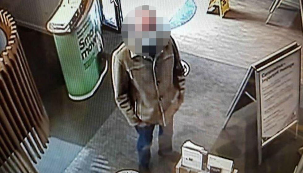IDENTIFISERT: Politiet gikk gjennom overvåkingsvideoen og klarte å identifisere 67-åringen. Foto: Politiet i Sussex