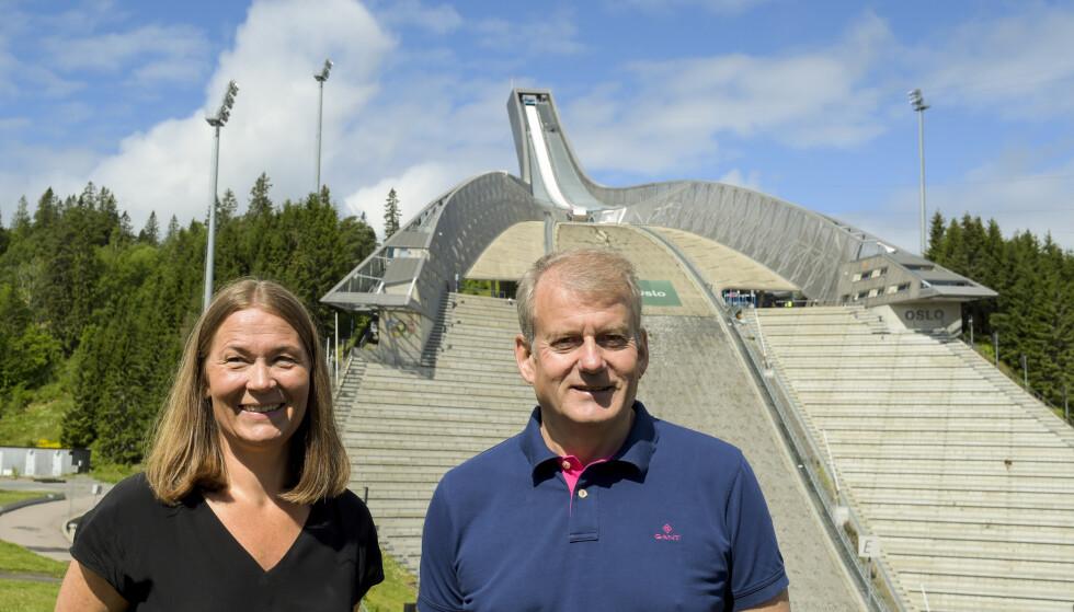 SKITOPPER: Generalsekretær i Norges Skiforbund, Ingvild Bretten Berg, og skipresident Erik Røste skal begge ha samarbeidsproblemer med Clas Brede Bråthen. Foto: Annika Byrde / NTB