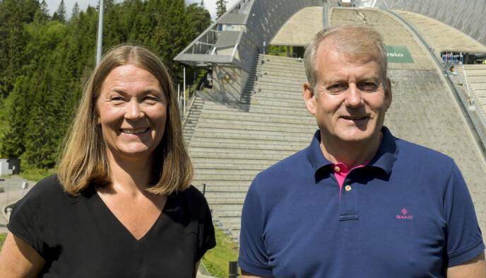 SKITOPPER: Generalsekretær Ingvild Bretten Berg og skipresident Erik Røste ønsker ikke å ha med Clas Brede Bråthen videre etter neste sesong. Foto: Annika Byrde / NTB