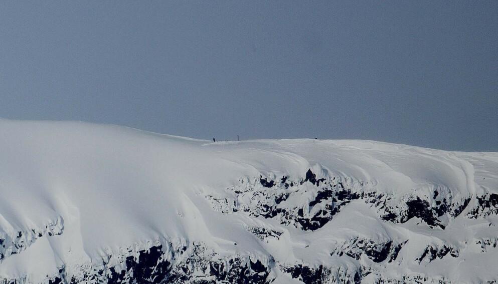 SMELTER: Isbreen på Sveriger høyeste fjell, Kebnekaise, smelter. Foto: Foto: Stian Lysberg Solum / NTB