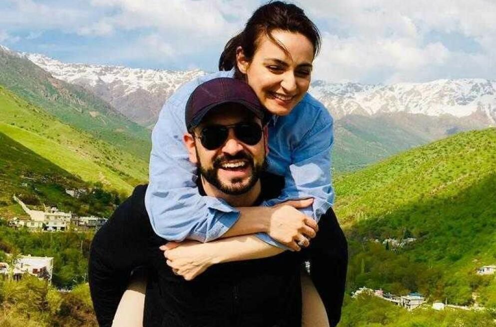 RASK MATCH: Yama og Shara møttes først i tenåra, før de for ni år siden ble kjent på nytt, forteller Shara. Nå er Yama i Kabul. Foto: Privat