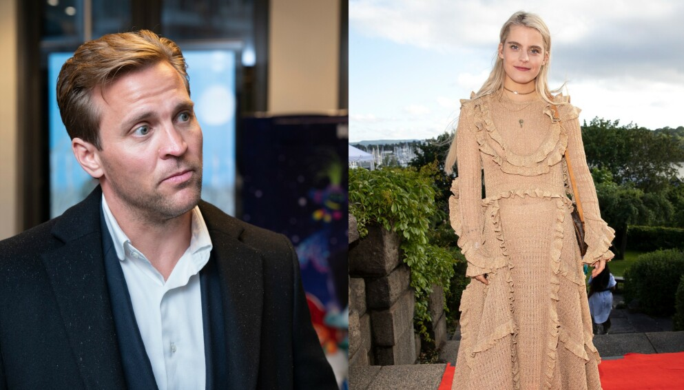 NY JOBB: Tobias Santelmann og Ulrikke Falch blir kollegaer. Foto: Espen Solli og Andreas Fadum / Se og Hør
