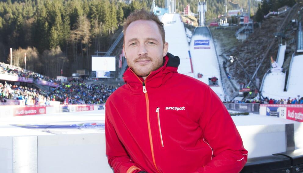 NRK-EKSPERT: Johan Remen Evensen, her i Schattenbergbakken i Oberstdorf. Foto: Terje Bendiksby / NTB