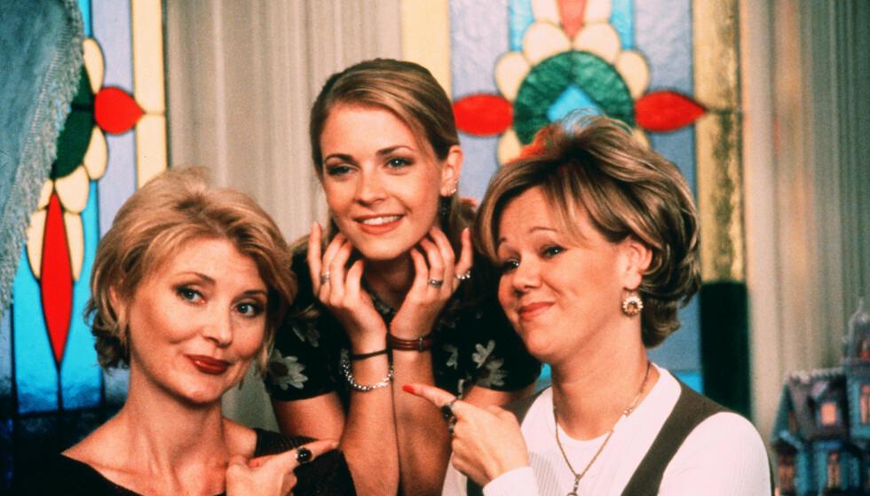 TV-SUKSESS: Melissa Joan Hart (midten) spilte hovedrollen i «Sabrina the Teenage Witch», som var en megasuksess for nesten 20 år siden. Foto: Shutterstock