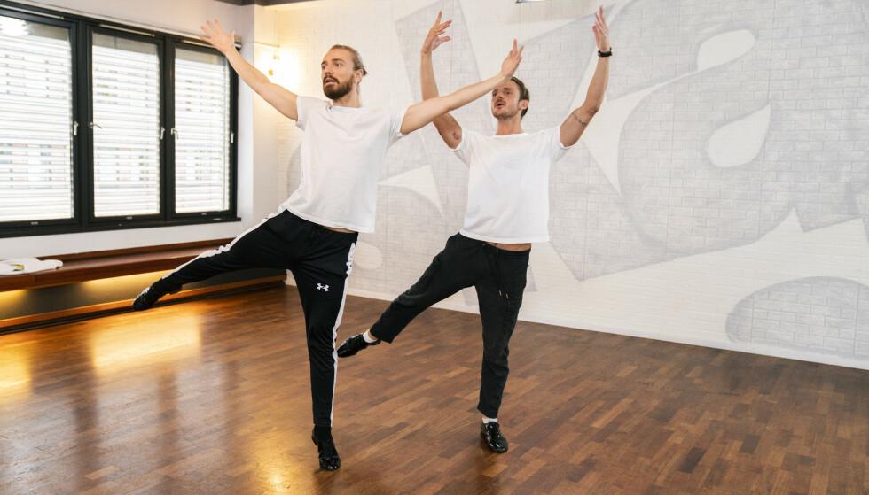HARDTRENING: Joakim Kleven og Benjamin Jayakoddy er klare for «Skal vi danse»-historie. Foto: Espen Solli/TV 2
