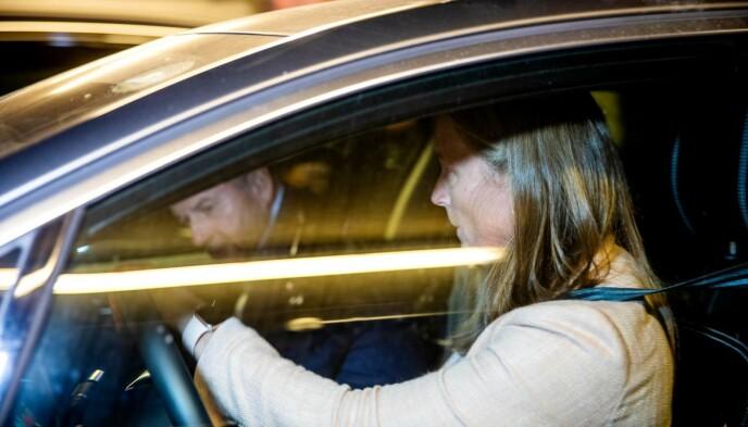 ORDKNAPPE: Generalsekretær Ingvild Bretten Berg og skipresident Erik Røste kjørte sammen vekk fra Lysaker etter møtet. Foto: Nina Hansen