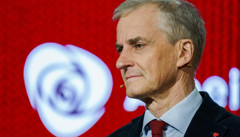SA NEI: Ap-leder Jonas Gahr Støre sa nei til rusreformen og fikk støtte av landsmøtet i partiet. Dermed er det fortsatt et straffespor overfor narkotikabrukere. Foto: Torstein Bøe / NTB