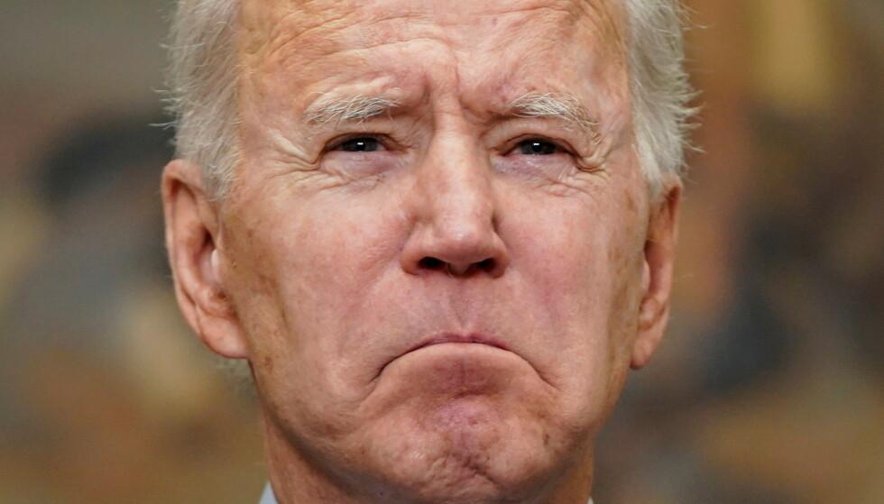 ANSTRENGT: Joe Biden har i sommer hatt et anstrengt forhold til både velgere, Kongressen, og verden. Foto: REUTERS / NTB