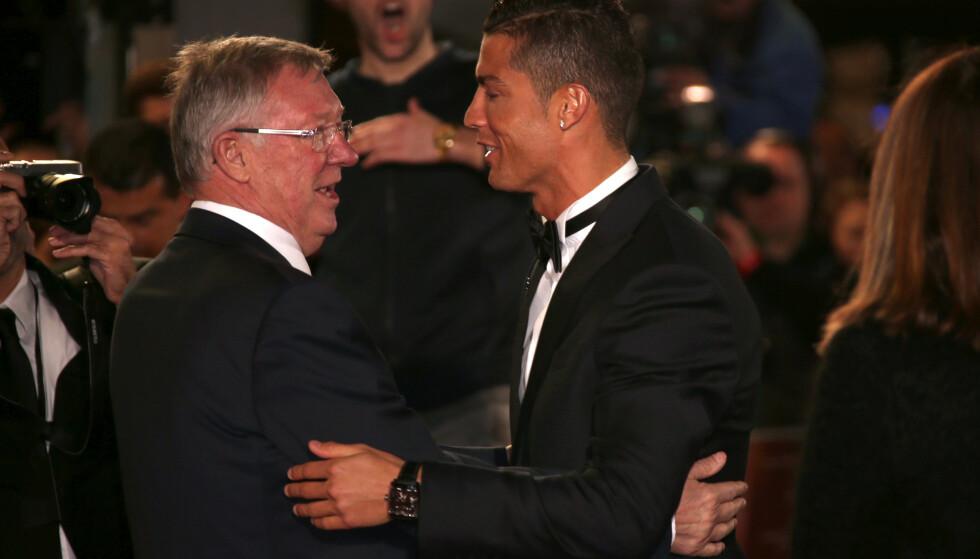MØTTES JEVNLIG: Sir Alex Ferguson og Cristiano Ronaldo under et møte i 2015. Foto: Joel Ryan/Invision/AP/NTB