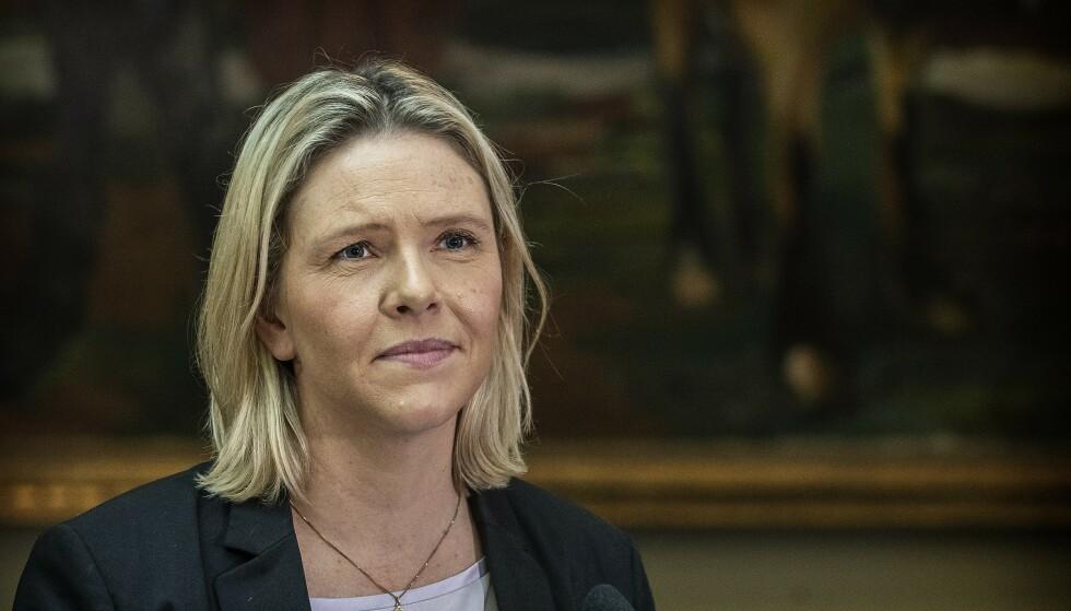 LAR SEG IKKE LURE: Frp-leder Sylvi Listhaug tror ikke velgerne lar seg lure av det hun kaller Aps billige forsøk på bløff om Frps klimapolitikk. Foto: Hans Arne Vedlog / Dagbladet