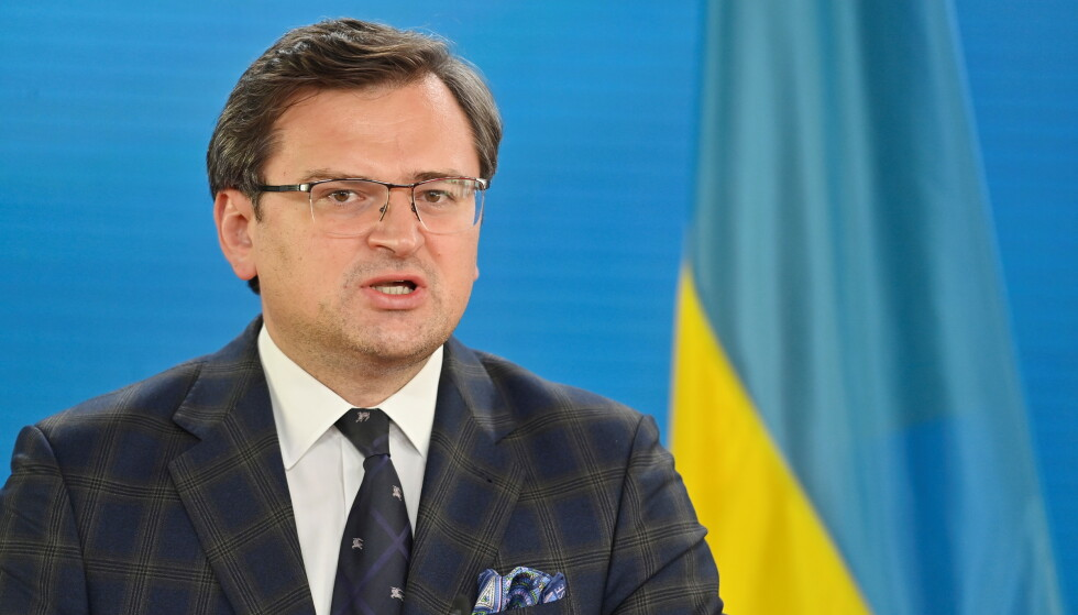 Support for Demands: Ukrainian Foreign Minister Dmitry Kuleba wants to join NATO with the help of Norway.  Photo: Reuters / NTP
