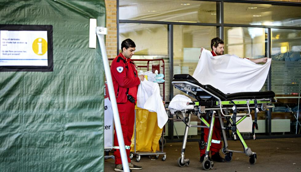 STOR ØKNING: Den voldsomme smitteøkningen i Norge kan føre til at sykehusene om allerede tre uker kan ha 188 pasienter innlagt, ifølge FHIs estimater. Foto: Nina Hansen / DAGBLADET