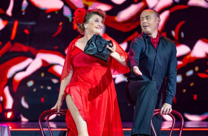 Intrattenimento: non c'è dubbio che Elin e Bjørn abbiano dato uno spettacolo sul palco.  Foto: Thomas Andersen / TV 2