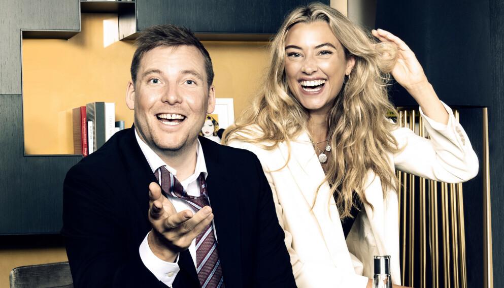 KRITISK: God kveld Norge-programlederne Marte Bratberg og Niklas Baarli er to av TV 2s profiler som annonserer for flere produkter på sosiale medier. Presseekspert Gunnar Bodahl-Johansen mener det er problematisk. Foto: TV 2.