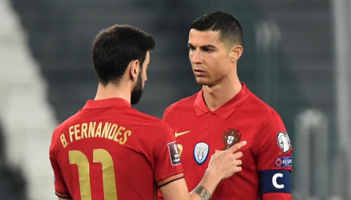 LAGKAMERATER: Ronaldo og Fernandes er nå lagkamerater både på klubb og landslag. Foto: Reuters