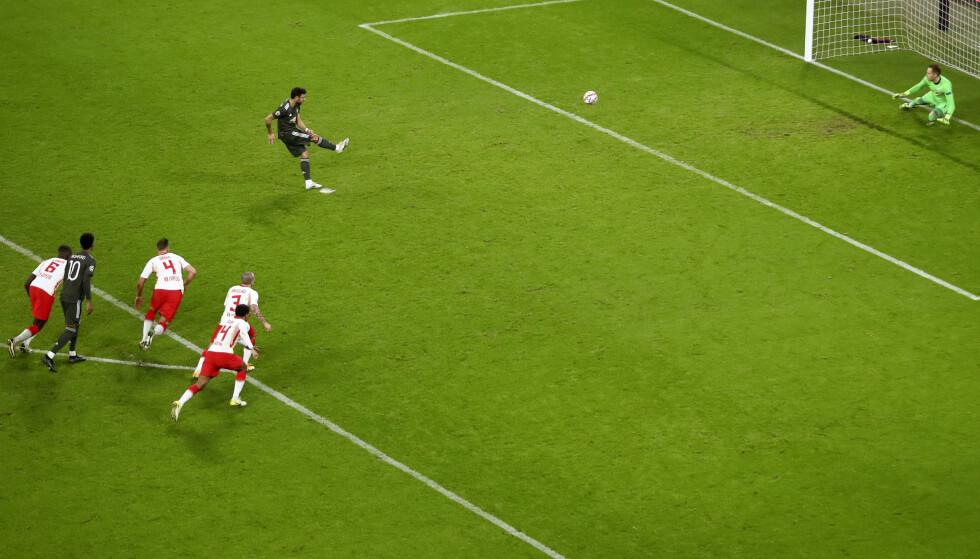 SCORER: Et kjent syn for Manchester United-fansen. Foto: AP