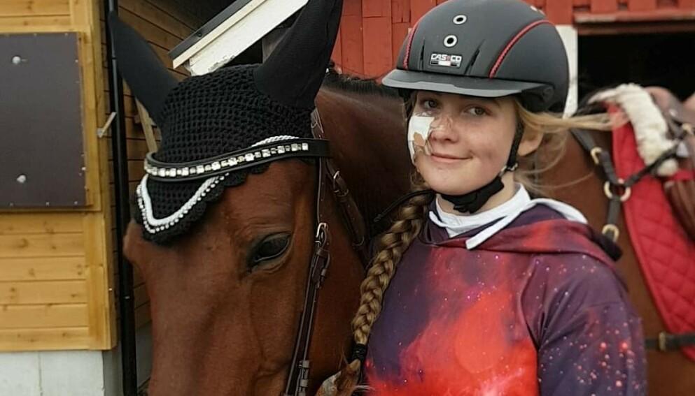 AVLIVET: For to år siden måtte Pia Olden avlive hesten Drifting Speed. Da tok hun et uvanlig valg. Foto: Privat