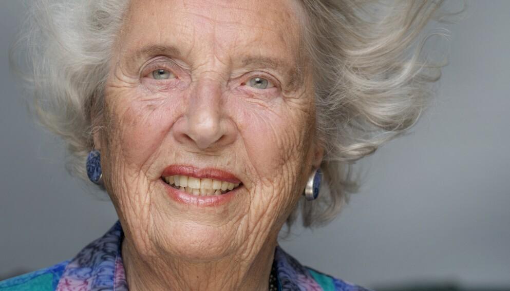 ANNERLEDES: 94-årige Tordis Ørjasæter skriver om barna som er annerledes. Selv hadde hun sønnen Dag Tore. Foto: Agnete Brun