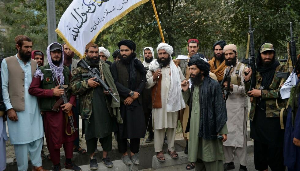 TALIBAN: Todas las misiones que Farahmand hizo en Afganistán estaban relacionadas con la lucha contra el terrorismo y los talibanes.  Ahora el movimiento islamista ha vuelto a tomar el poder en el país.  Foto: Hoshang Hashimi / AFP / NTB