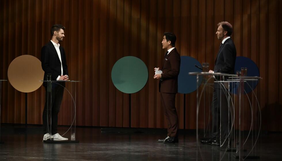Rødt-leder Bjørnar Moxnes under partilederdebatten i Bodø fredag. Foto: Lars Eivind Bones / Dagbladet