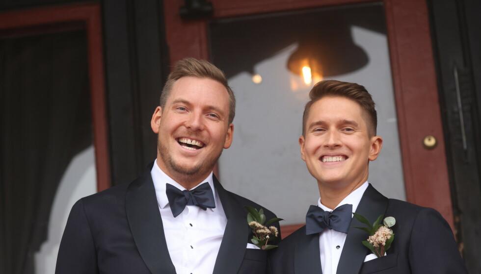 EKTEPAR: I dag, lørdag, er den store dagen. Niklas Baarli og Benjamin Silseth skal gifte seg. Foto: Andreas Fadum / Se og Hør