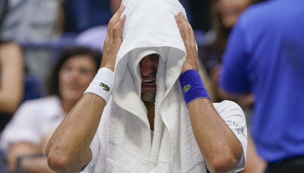 KNUST: Novak Djokovic under finalen. Foto: NTB