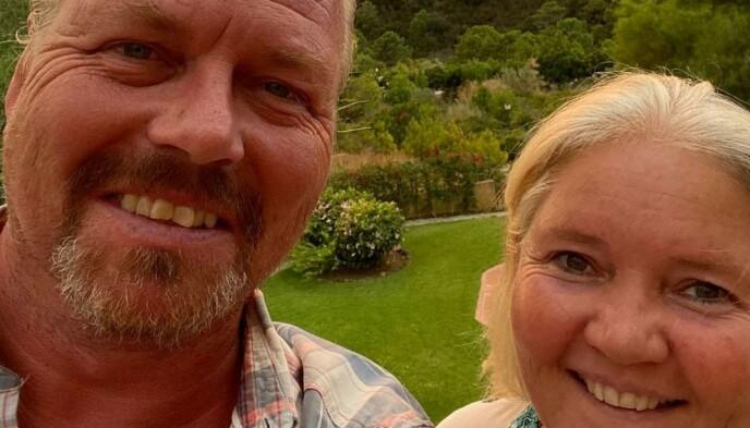 I SPANIA: : Ekteparet Johnny og Ann Elin Stahl bor i Malaga-provinsen der skogbrannen brøt ut onsdag kveld. Foto: www.monteselwo.eu