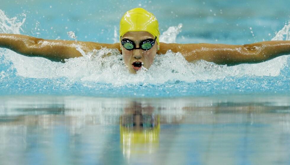 In actie: Rijst in het zwembad tijdens de Olympische Spelen van 2008. Foto: Associated Press