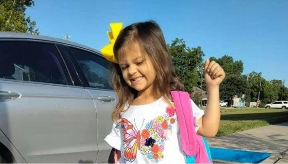 LIVLIG: Jenta blir beskrevet som en livlig og morsom jente, i starten av september døde hun av corona. Foto: GoFundMe / Karra Harwood