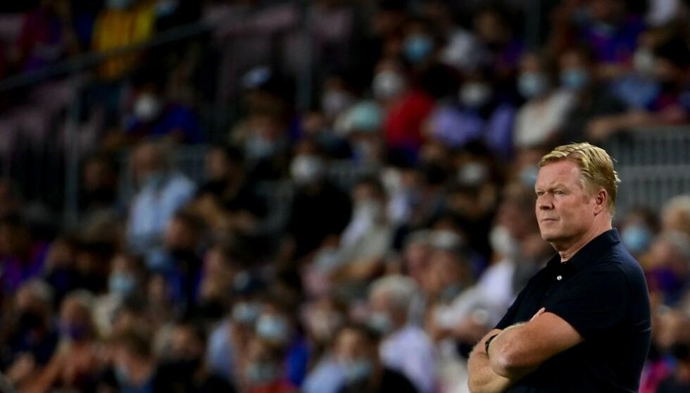SKUFFET: Barca-manager Ronald Koeman. Foto: AFP