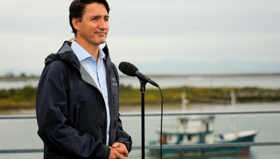 VALGKAMP: Canadas statsminister Justin Trudeau driver valgkamp før valget 20. september. Foto: REUTERS/Carlos Osorio