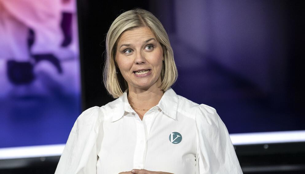 NY PÅ STORTINGET: Ja. Venstre-leder Guri Melby har først fast plass på Stortinget fra oktober i iår. Foto: Marit Hommedal / NTB.