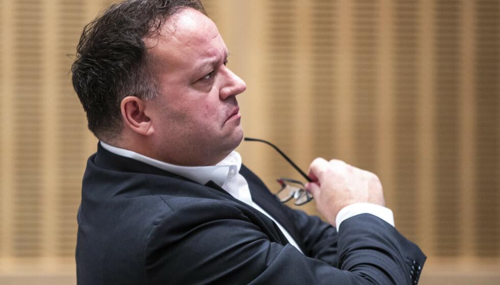 PÅ LANDSMØTET GARDERMOEN 2020: Nå vil partileder Frode Myrhol i Folkeaksjonen nei til bompenger (FNB) bytte navn på partiet etter et dårlig stortingsvalg. Foto: Terje Pedersen / NTB.