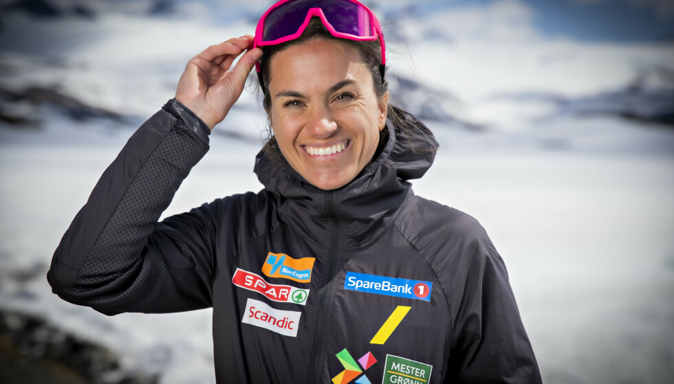 FORNØYD: Heidi Weng er fornøyd med jobben hun har lagt inn. Foto: Bjørn Langsem / Dagbladet