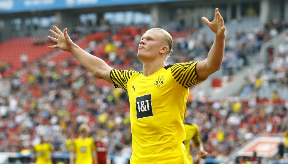 SUPERSTJERNE: Erling Braut Haaland er en av verdens mest ettertraktede fotballspillere. Foto: Thilo Schmuelgen/Reuters/NTB