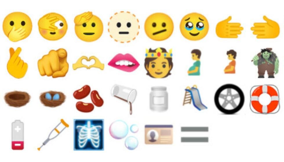 NYE EMOJIS: Disse kommer snart til en telefon nær deg. Foto: Unicode