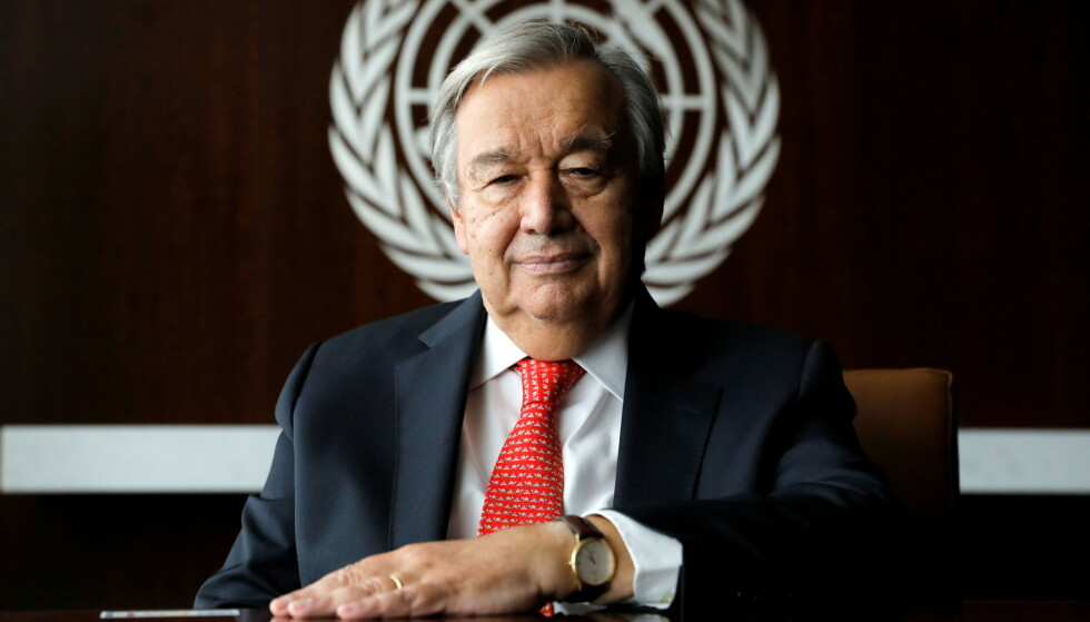 ADVARER: Generalsekretær Antonio Guterres i FN slår alarm i ny rapport. Foto: Andrew Kelly / Reuters / NTB