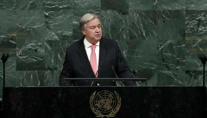 KATASTROFALT: FNs generalsekretær António Guterres. Foto: Jason Szenes / UPI / Shutterstock / NTB