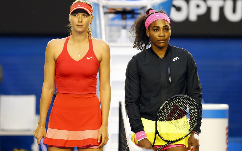 IKKE PERLEVENNER: Serena Williams og Maria Sharapova var rivaler på og utenfor banen. Foto: Ella Ling/Bpi/REX/NTB