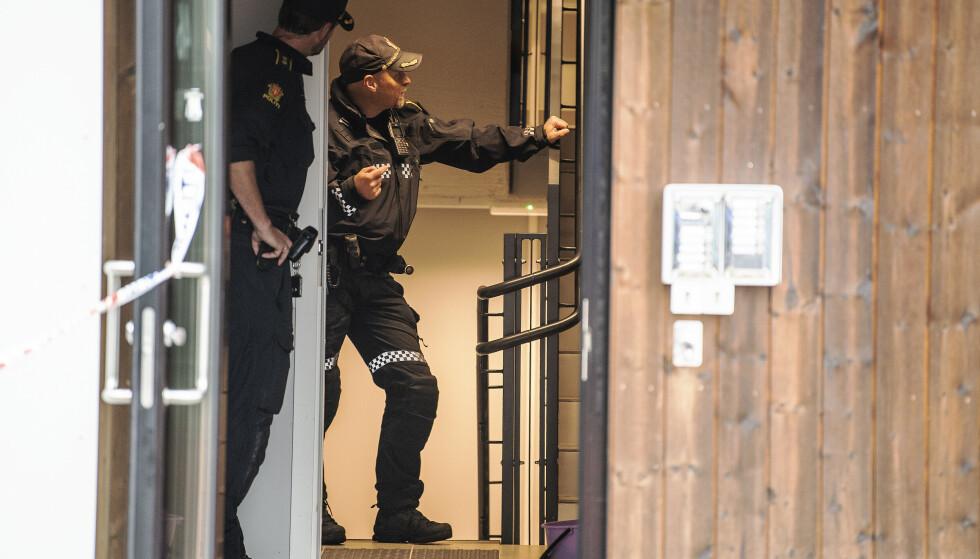 DREPT: En kvinne i 20-åra er død ette en alvorlig voldshendelse i Åsane i Bergen forrige søndag. Kvinnen døde på sykehus fredag. Foto: Marit Hommedal / NTB
