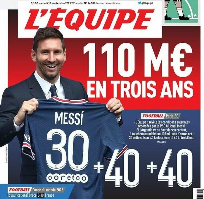 Fransk avis avslører Lionel Messis superlønn