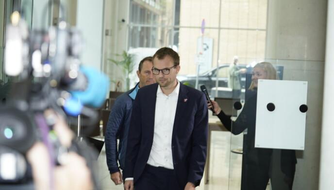 GÅR AV: Kjell Ingolf Ropstad går av som både KrF-leder og barne- og familieminister etter skatteskandalen. Foto: Hans Arne Vedlog / Dagbladet