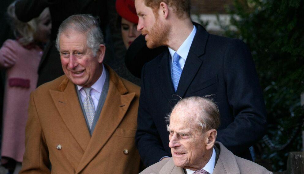 SAMTALE DAGEN FØR: Prins Charles forteller at han snakket med faren dagen før han døde. Her sammen i 2016. Foto: Tim Rooke/REX/NTB