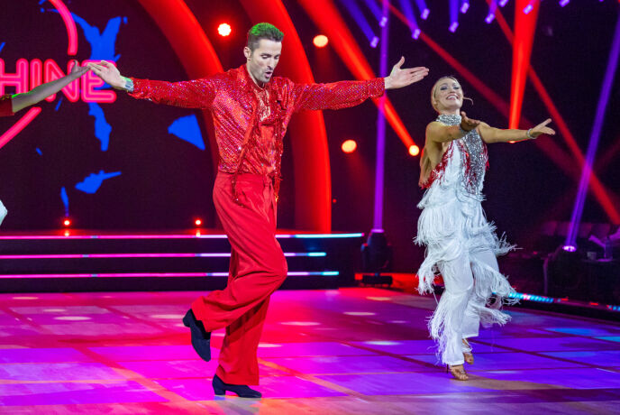 Applausi pieni: i giudici hanno esultato per lo spettacolo di danza di Magnus ed Ewa.  Foto: Thomas Andersen / TV 2
