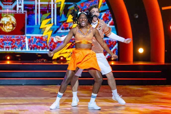 Hailes: Siri e Tarjei sono stati elogiati per la loro danza.  Foto: Thomas Andersen / TV 2