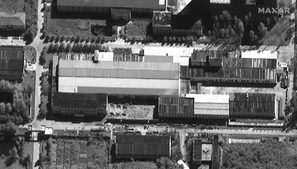 UTVIDER: Satellittbilder viser etter alt å dømme at Nord-Korea er i ferd med å utvide atomfasilitetene sine. Foto: Satellite image 2021 Maxar Technologies / AP