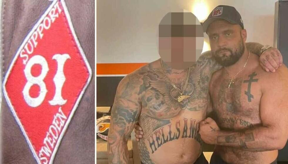 På sosiale medier poserer Danijel Reljanovic med Hells Angels-medlemmet. Foto: Privat