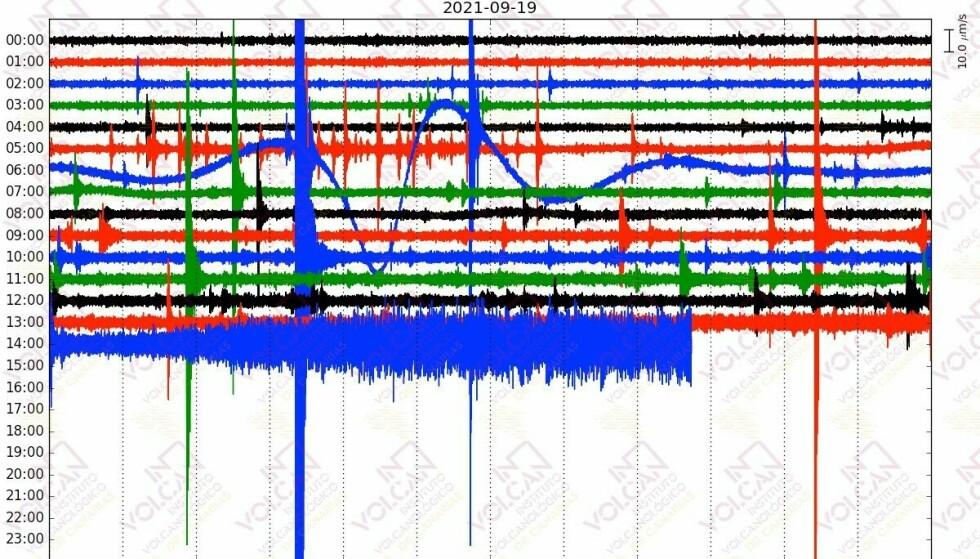 Visibile: il suono dell'eruzione è già visibile sui sismometri, ha scritto l'Involcan Research Institute su Twitter.  Foto: Involcan / Twitter